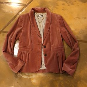 Ruched taupe blazer